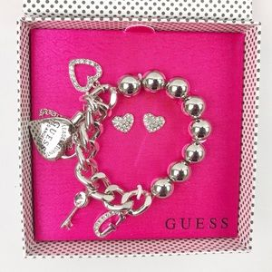Guess Jewelry - SALE - Guess Charm Bracelet and Earring Set - NWOT